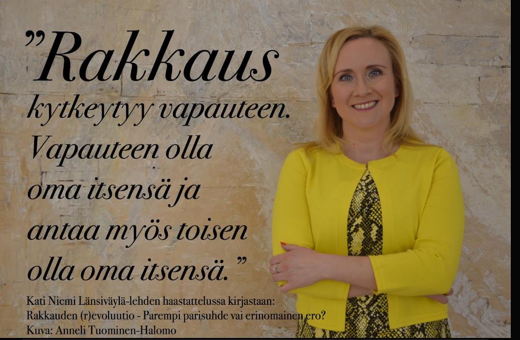 Parisuhdeasiantuntija, kliininen hypnoterapeutti, NLP-valmentaja Kati Niemi